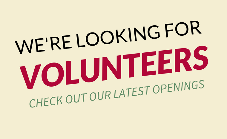 New volunteer opportunities